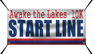 Custom 10K Start Line Banner Example | Wholesalebannerz.com