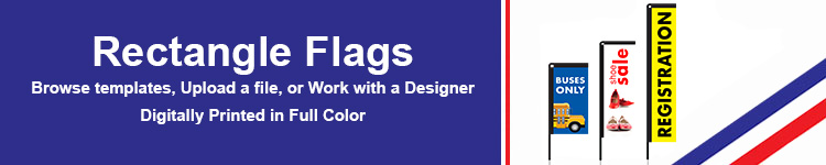 Custom Rectangle Flags | Wholesalebannerz.com