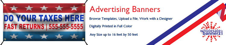 Custom Advertising Banners from Wholesalebannerz.com