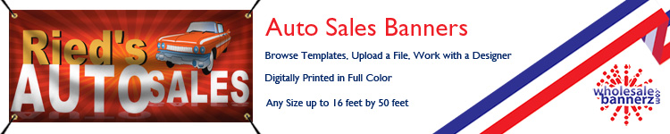 Custom Auto Sales Banners from Wholesalebannerz.com