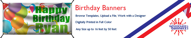 Custom Birthday Banners from Wholesalebannerz.com