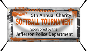 Custom Charity Softball Tournament Banner Example | Wholesalebannerz.com