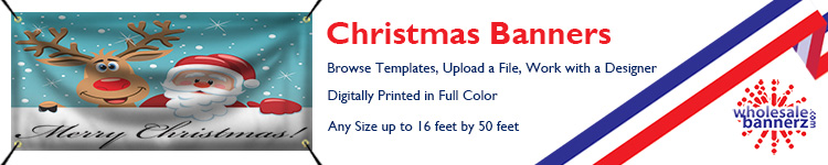 Custom Christmas Banners from Wholesalebannerz.com