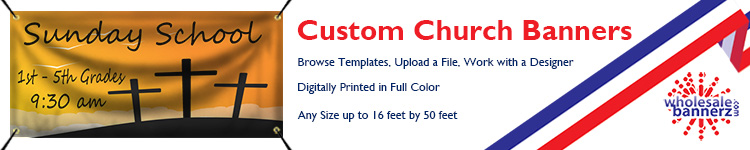 Custom Church Banners | Wholesalebannerz.com