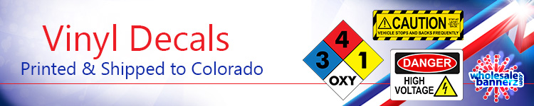 Custom Vinyl Decals for Colorado | Wholesalebannerz.com
