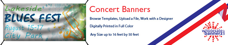 Custom Concert Banners from Wholesalebannerz.com