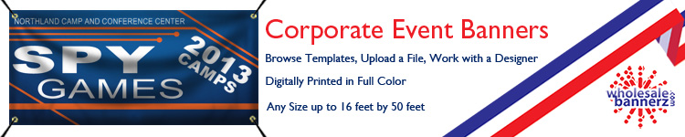 Custom Corporate Event Banners from Wholesalebannerz.com
