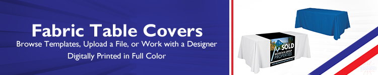 Fabric Table Covers - Blank - Runners - Printed in Full Color - Wholesalebannerz.com