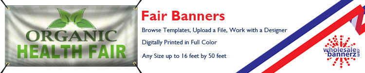 Custom Fair Banners | Wholesalebannerz.com