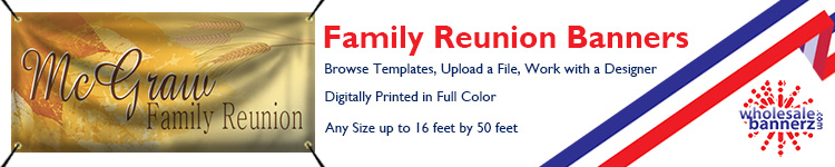 Custom Family Reunion Banners | Wholesalebannerz.com
