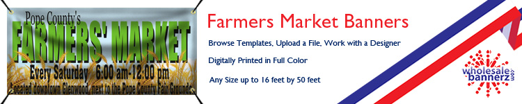 Custom Farmers Market Banners from Wholesalebannerz.com