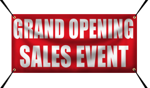 Custom Grand Opening Sales Event Banner Example | Wholesalebannerz.com
