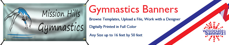 Custom Gymnastics Banners from Wholesalebannerz.com
