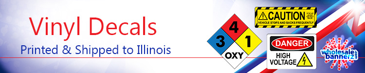 Custom Vinyl Decals for Illinois | Wholesalebannerz.com