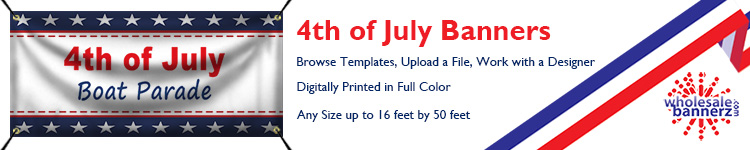 Custom Independence Day Banners | Wholesalebannerz.com