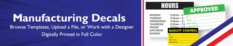 Custom Manufacturing Decals | Wholesalebannerz.com