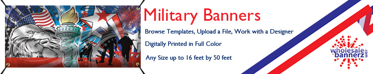 Custom Military Banners from Wholesalebannerz.com