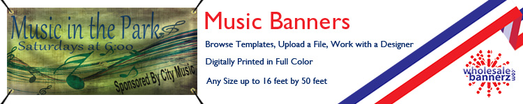 Custom Music Banners from Wholesalebannerz.com