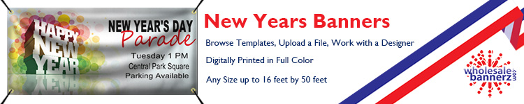 Custom New Years Celebration Banners from Wholesalebannerz.com