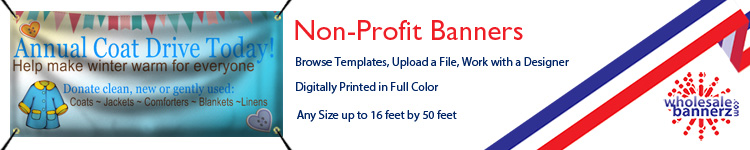 Custom Non-Profit Banners from Wholesalebannerz.com