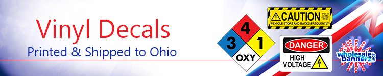 Custom Vinyl Decals for Ohio | Wholesalebannerz.com