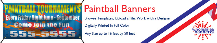 Custom Paintball Banners from Wholesalebannerz.com