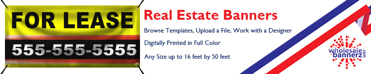 Custom Real Estate Banners from Wholesalebannerz.com