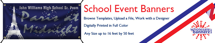 Custom School Event Banners from Wholesalebannerz.com