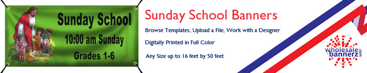 Custom Sunday School Banners from Wholesalebannerz.com