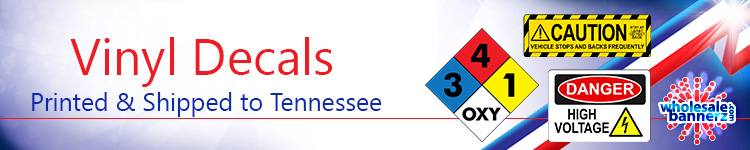 Custom Vinyl Decals for Tennessee | Wholesalebannerz.com