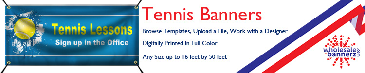 Custom Tennis Banners from Wholesalebannerz.com