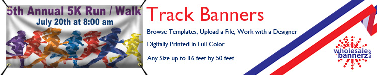Custom Track and Field Banners from Wholesalebannerz.com