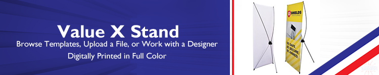 Value X Stand with Full Color Banner - Wholesalebannerz.com