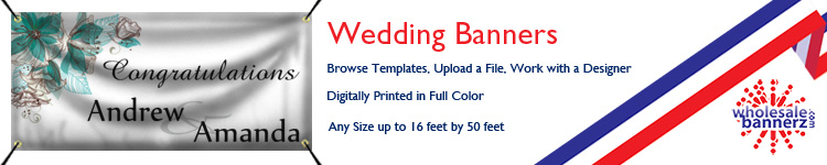 Custom Wedding Banners from Wholesalebannerz.com