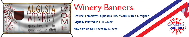 Custom Winery Banners from Wholesalebannerz.com