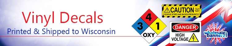 Custom Vinyl Decals for Wisconsin | Wholesalebannerz.com